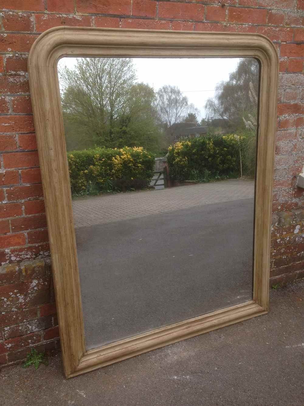 A Wonderful Original Large Antique 19th Century French Arched Top For Large Oak Mirror (View 5 of 15)