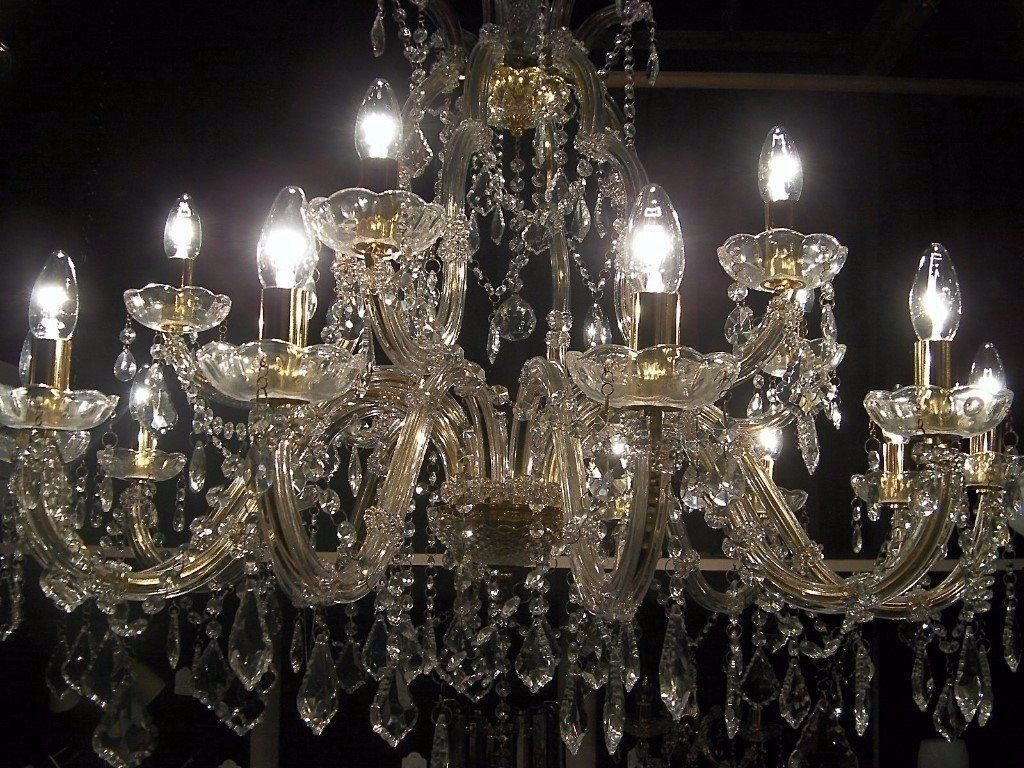 Absolutely Massive Chandelier Smothered In Crystal In Hove In Massive Chandelier (Image 2 of 15)