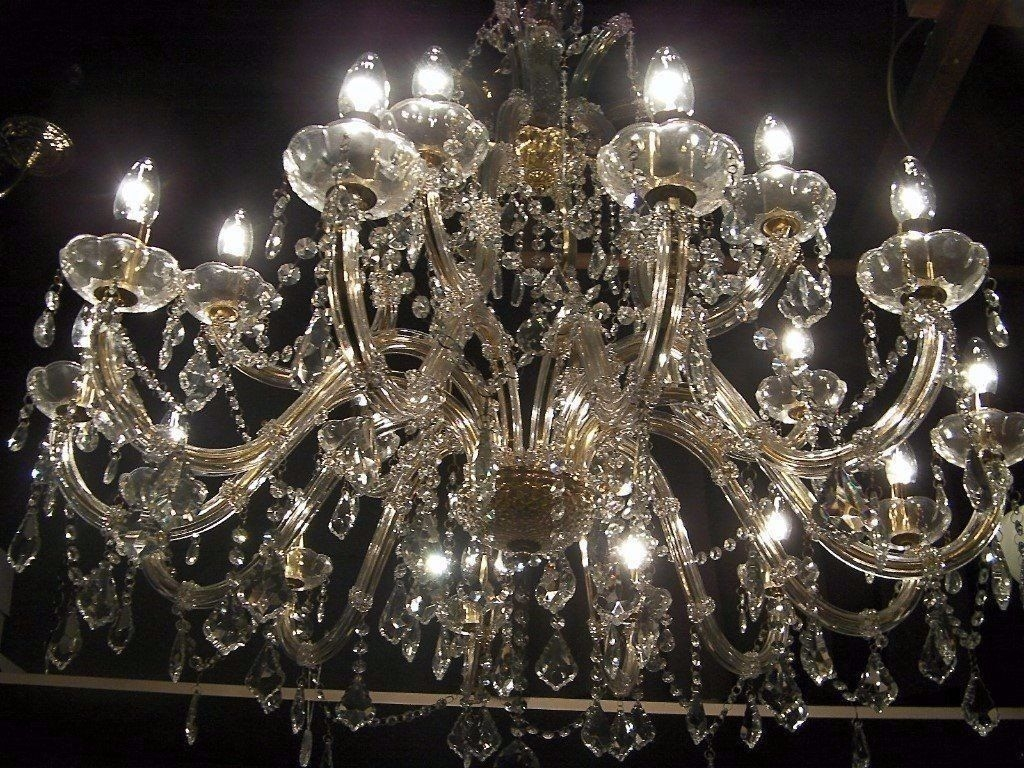 Absolutely Massive Chandelier Smothered In Crystal In Hove With Regard To Massive Chandelier (Image 3 of 15)