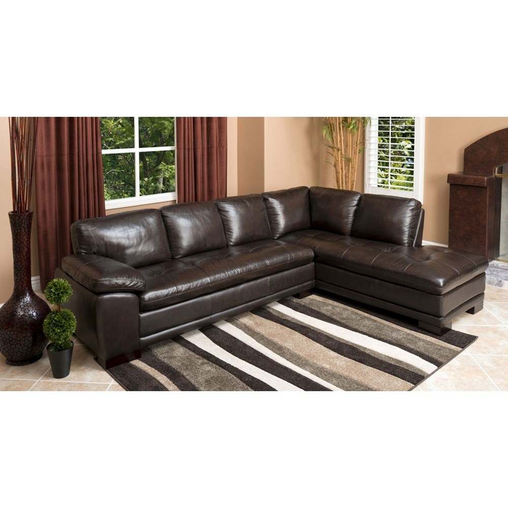 Abson Living Ci N680 Brn Tivoli Premium Italian Leather Pertaining To Abbyson Sectional Sofa (Image 2 of 15)