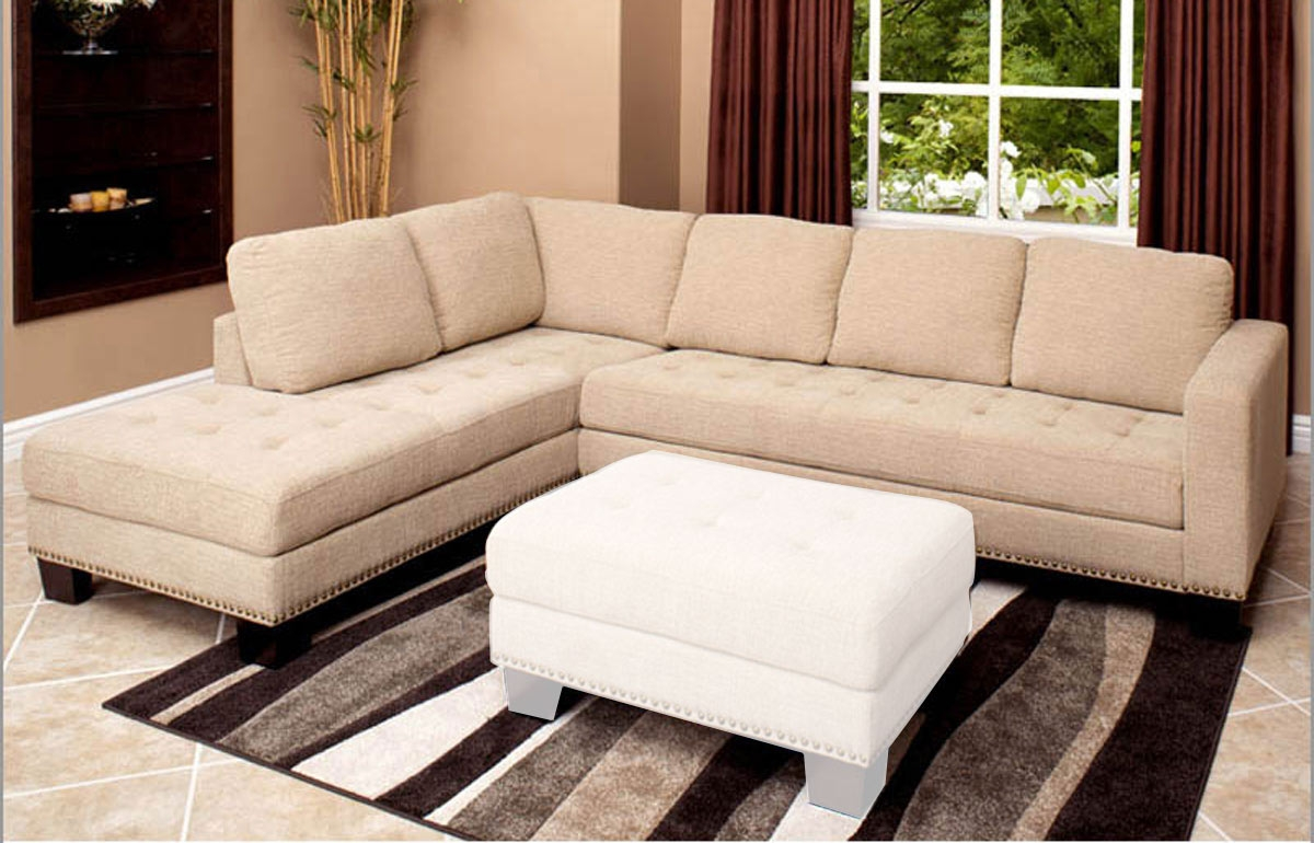 Abson Living Claridge Fabric Sectional Sofa Ab Ci D10357 Crm At Throughout Abbyson Sectional Sofa (Image 3 of 15)