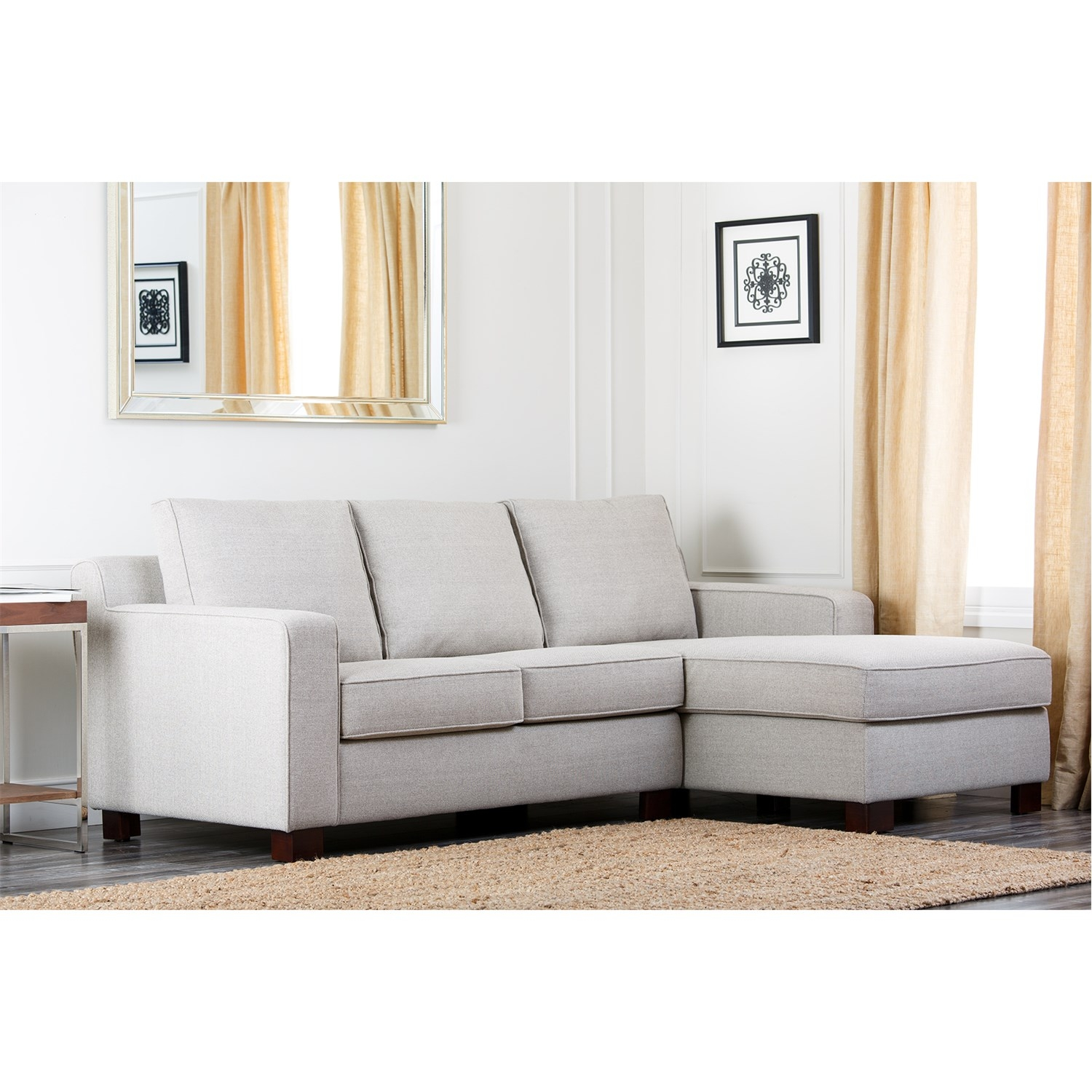 Abson Living Rl 1321 Gry Regina Grey Fabric Sectional Sofa Intended For Abbyson Sectional Sofa (Image 4 of 15)