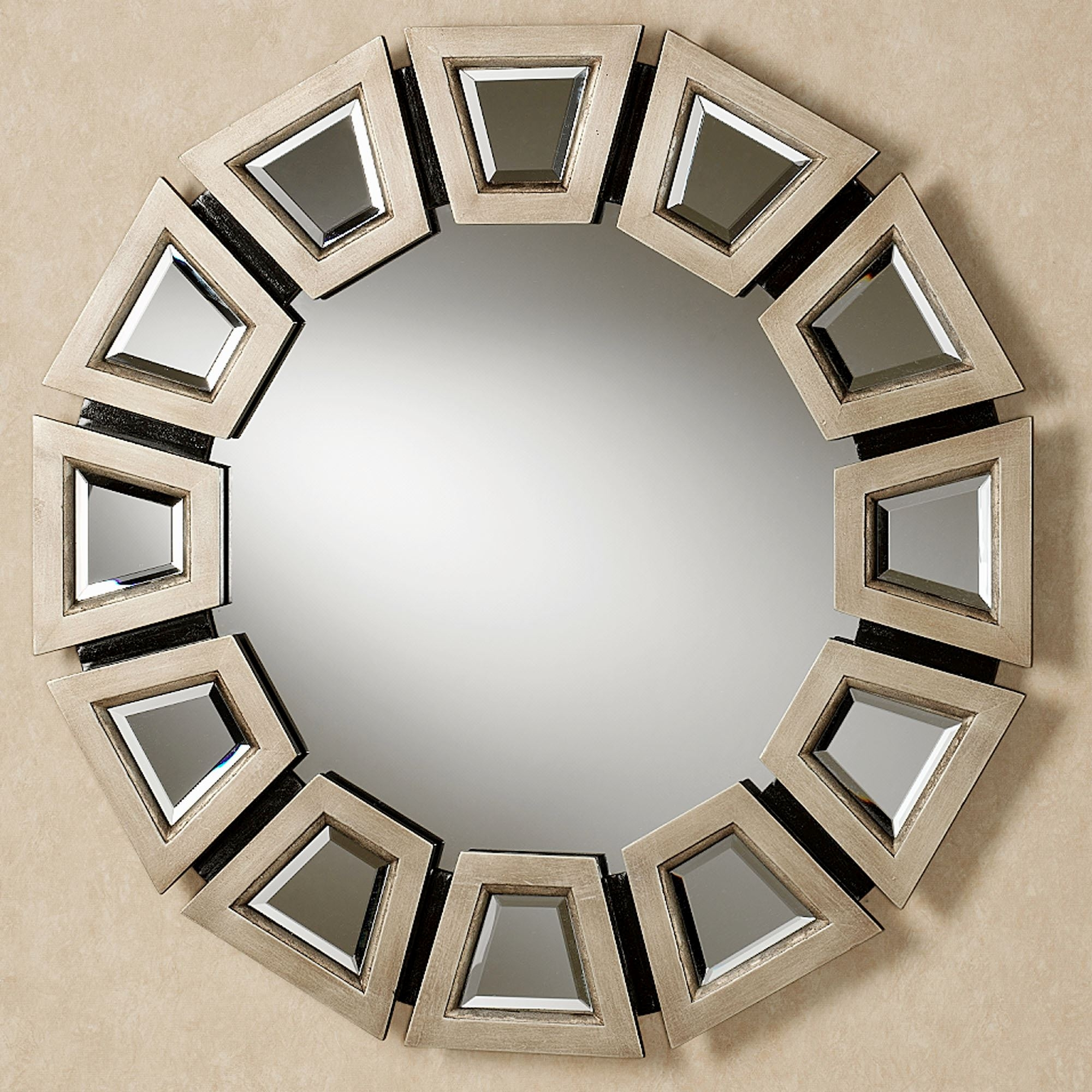 Abstract Twilight Round Wall Mirror For Champagne Wall Mirror (View 3 of 15)
