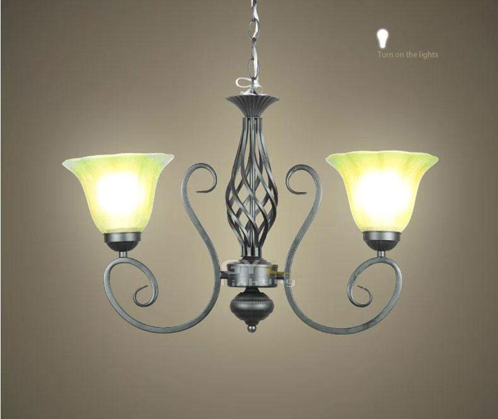 Ac100 240v 5739cm Frost Glass Lampshade Sconces Vintage Wrought With Vintage Wrought Iron Chandelier (Image 2 of 15)