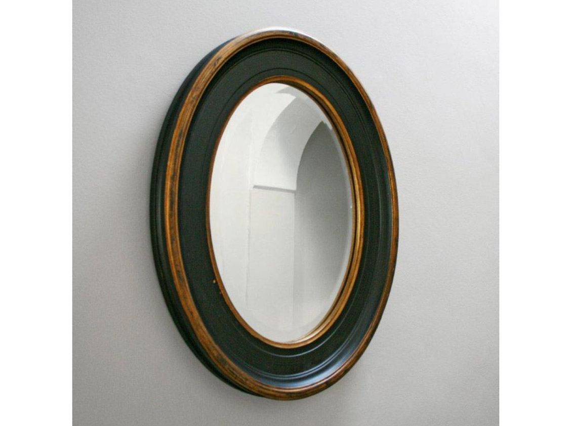 Accessories Enchanting Small Bathroom Decoration Using Hanging With Black Oval Wall Mirror (Image 1 of 15)