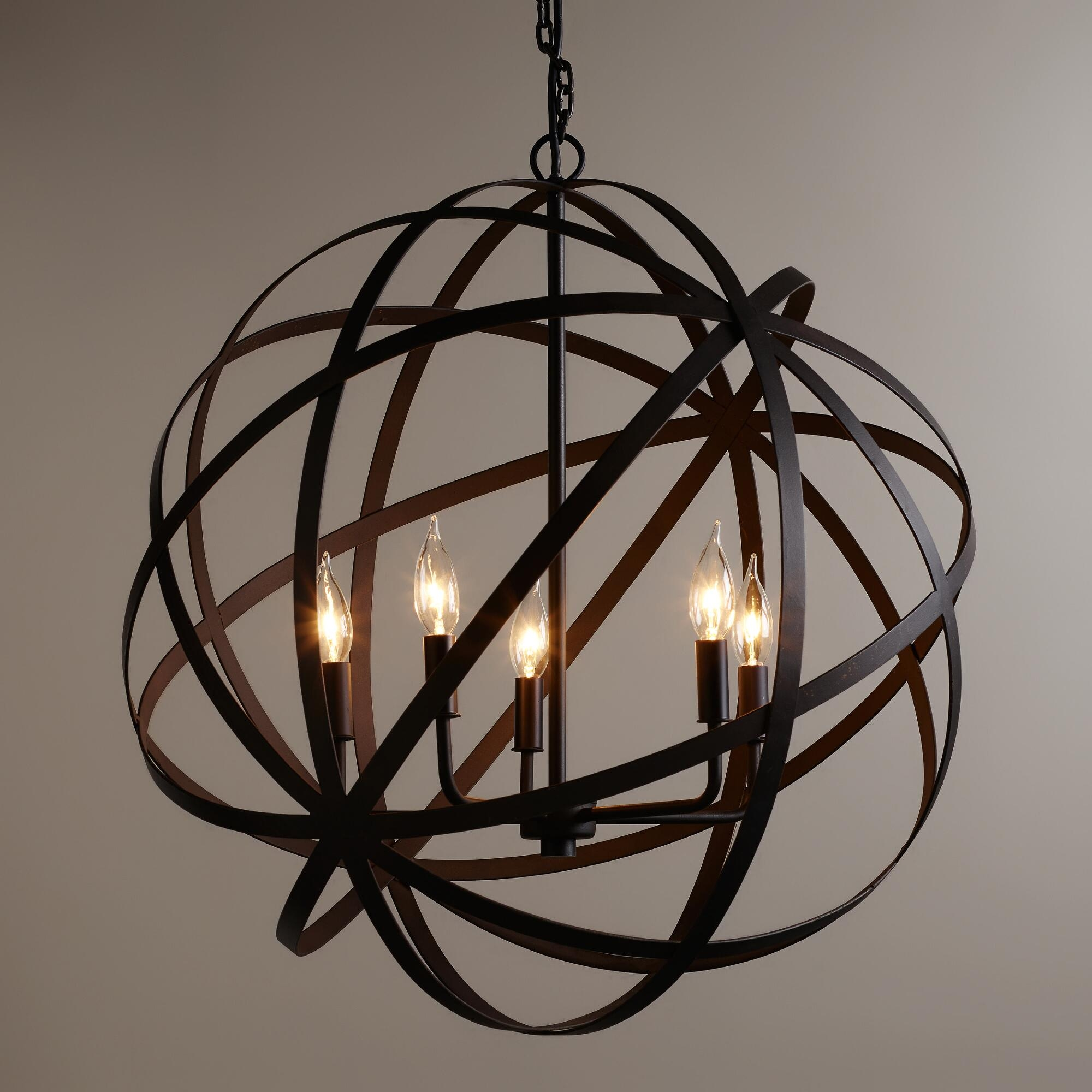 Accessories Home Interior Design And Decor With Sphere Chandelier Regarding Metal Sphere Chandelier (Image 1 of 15)
