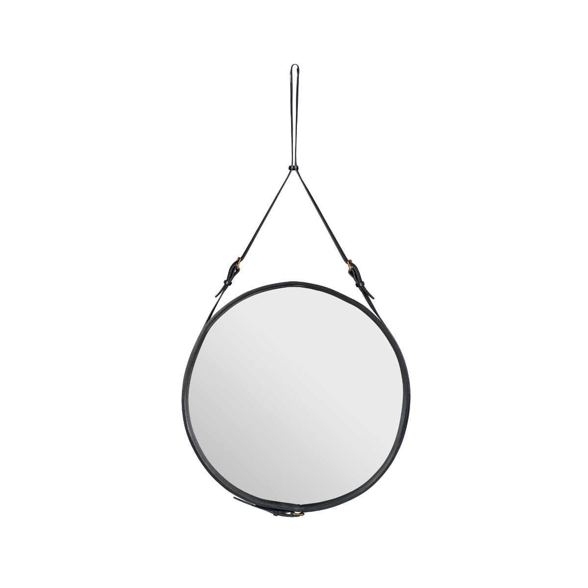Adnet Circulaire Mirror Trnk Inside Leather Mirror (View 12 of 15)