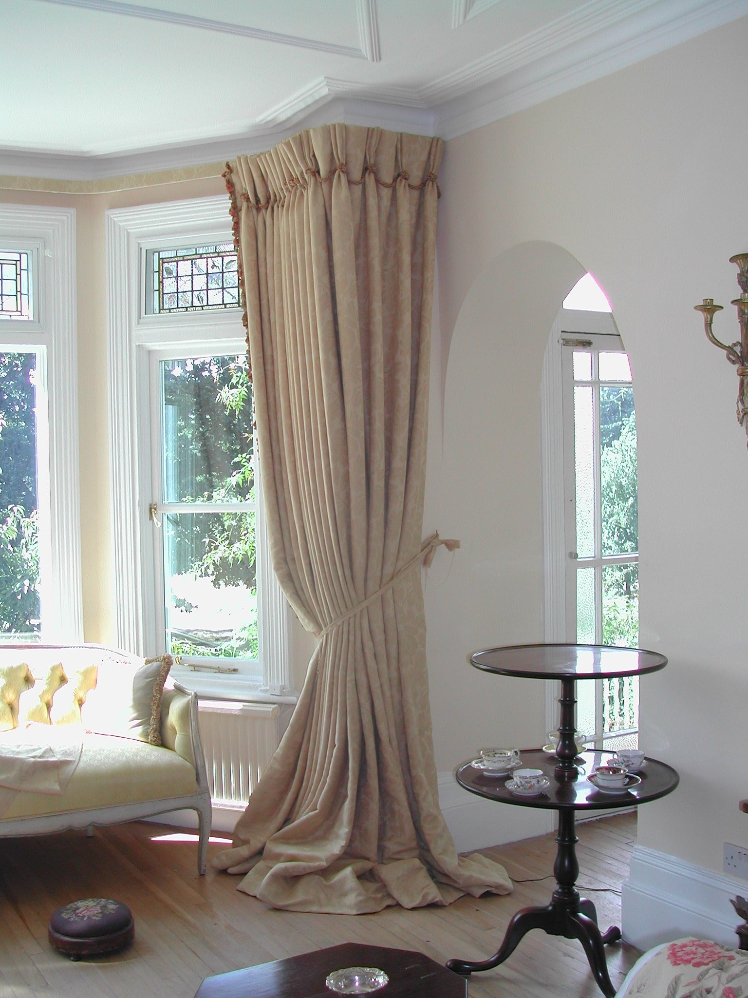 Adorable Interior Decorating With Bay Windows Kitchen Window Throughout Curtains For Round Bay Windows (Image 1 of 15)