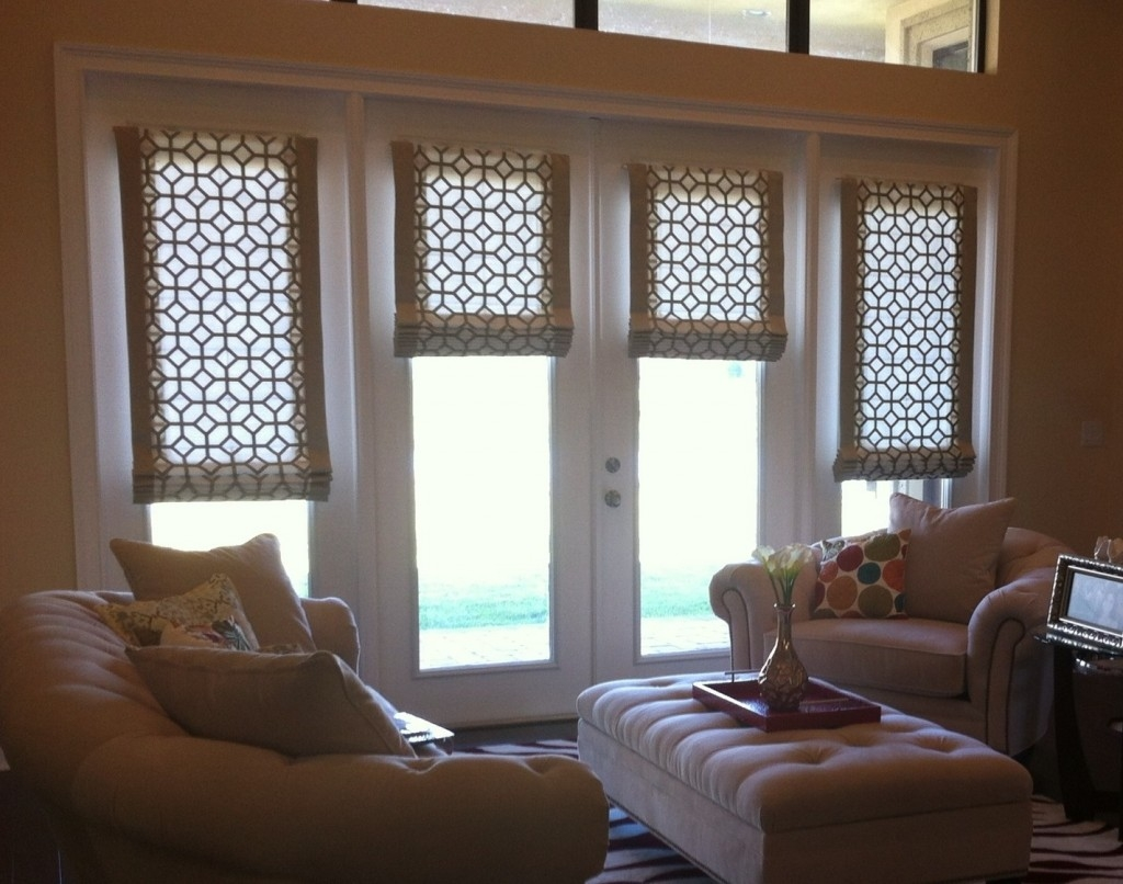 Advantages Of Roller Blinds For French Doors Latest Door Design Regarding Luxury Roman Blinds (Image 1 of 15)