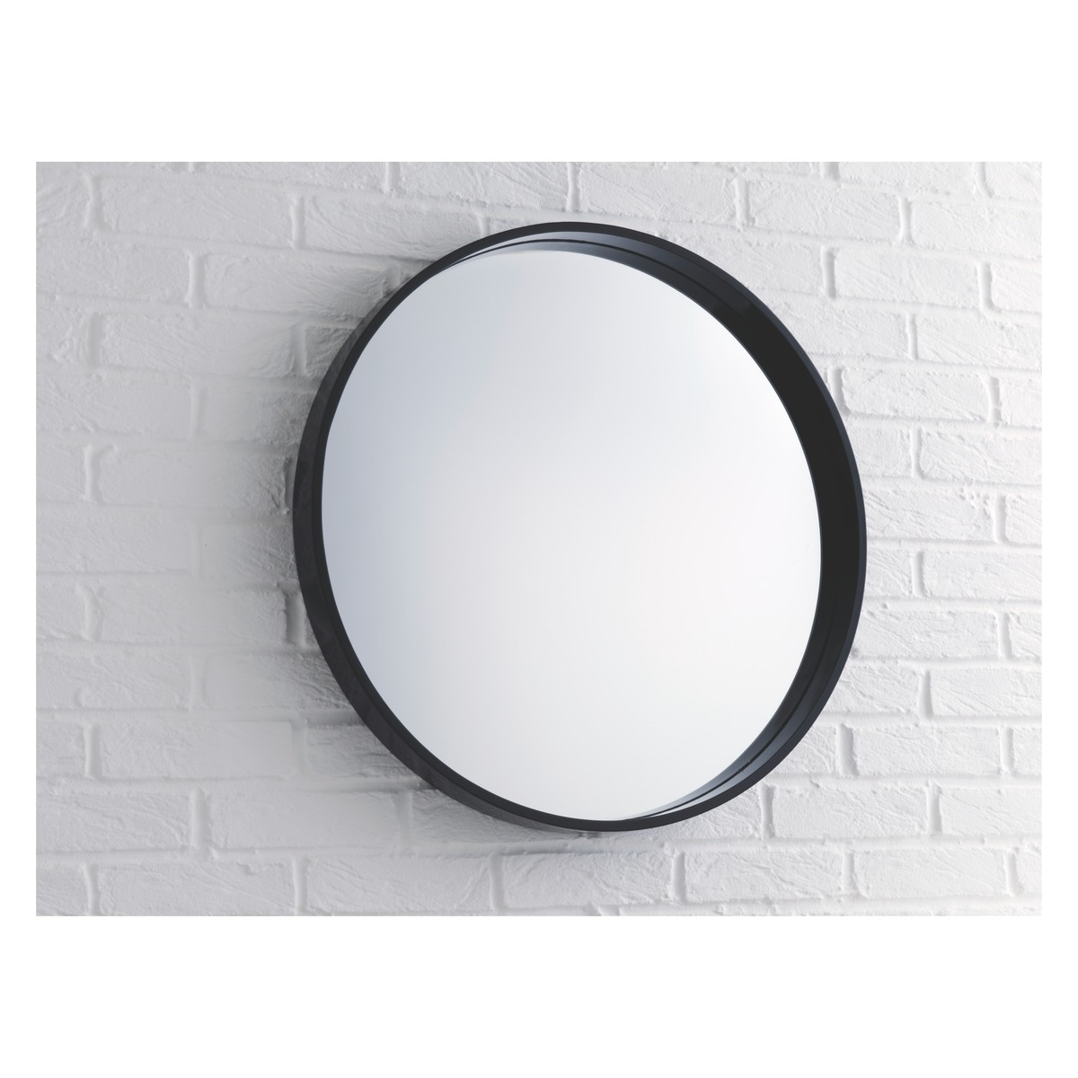 Aimee Black Round Wall Mirror D65cm Buy Now At Habitat Uk Intended For Black Round Mirror (Image 2 of 15)