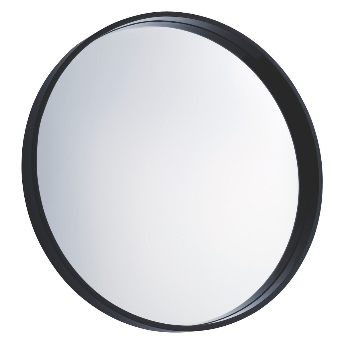 Aimee Black Round Wall Mirror D65cm Buy Now At Habitat Uk Pertaining To Large Black Round Mirror (Image 1 of 15)