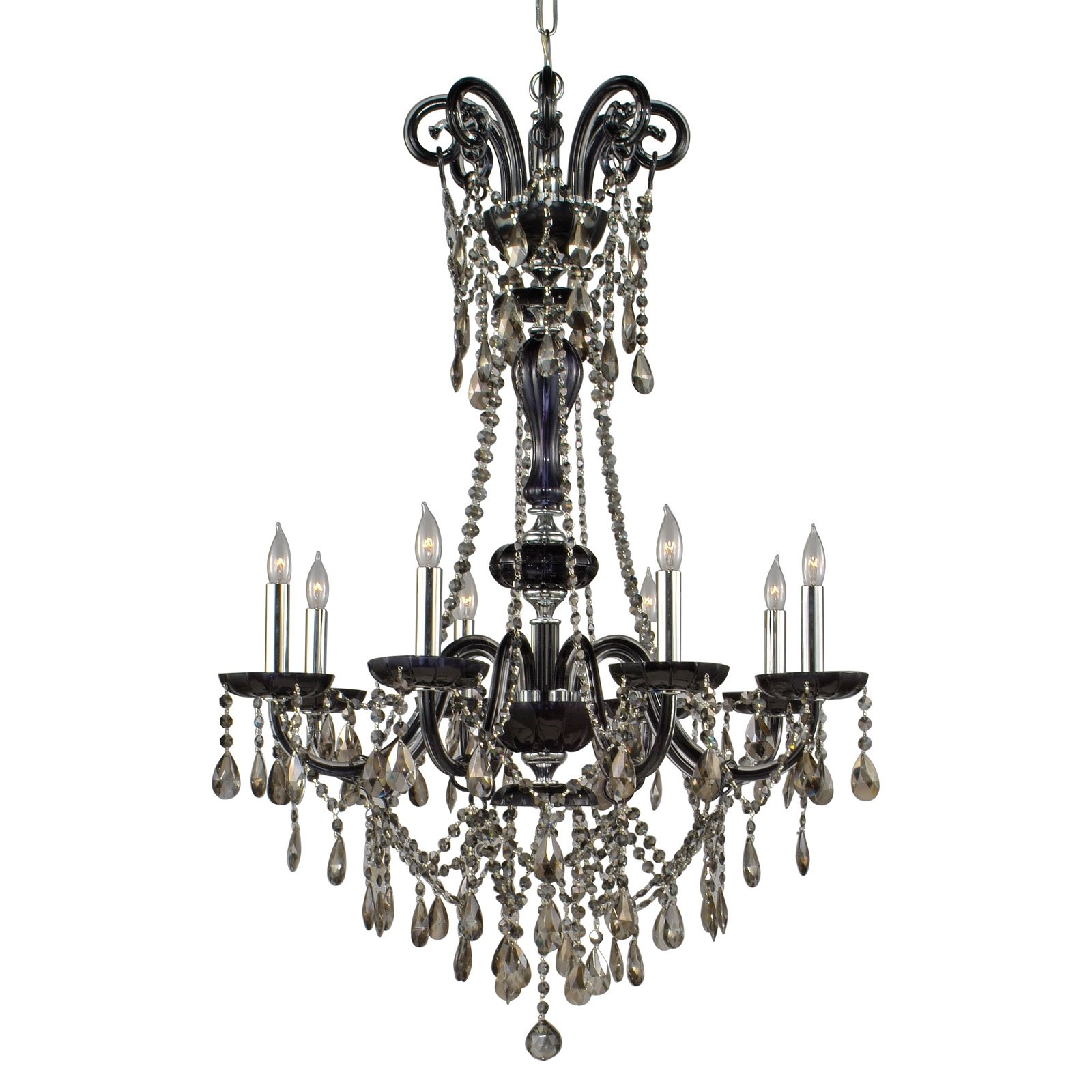 Air Versailles Chandelier 30w In Black Chandeliers At Hayneedle With Black Gothic Chandelier (Image 3 of 15)