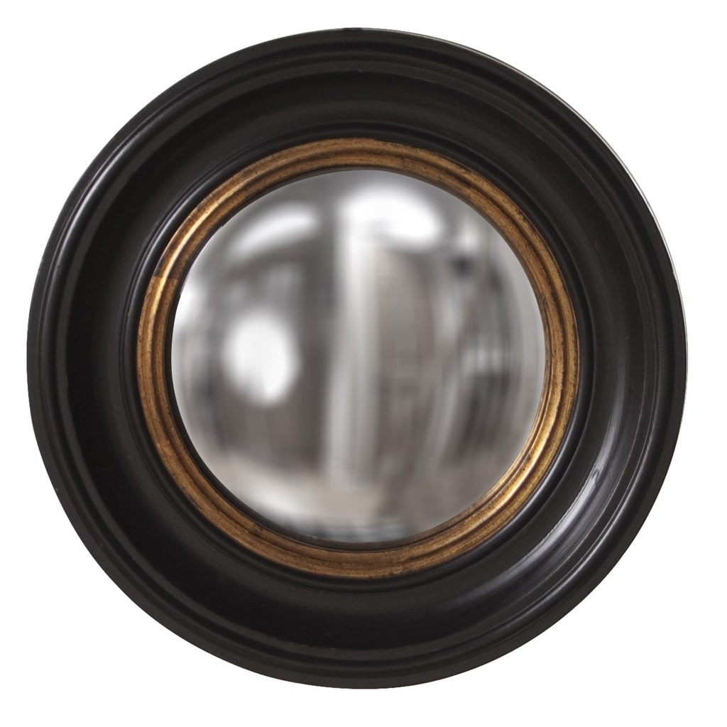 Albert Convex Black Mirror Free Shipping Today Overstock Throughout Black Convex Mirror (Image 1 of 15)