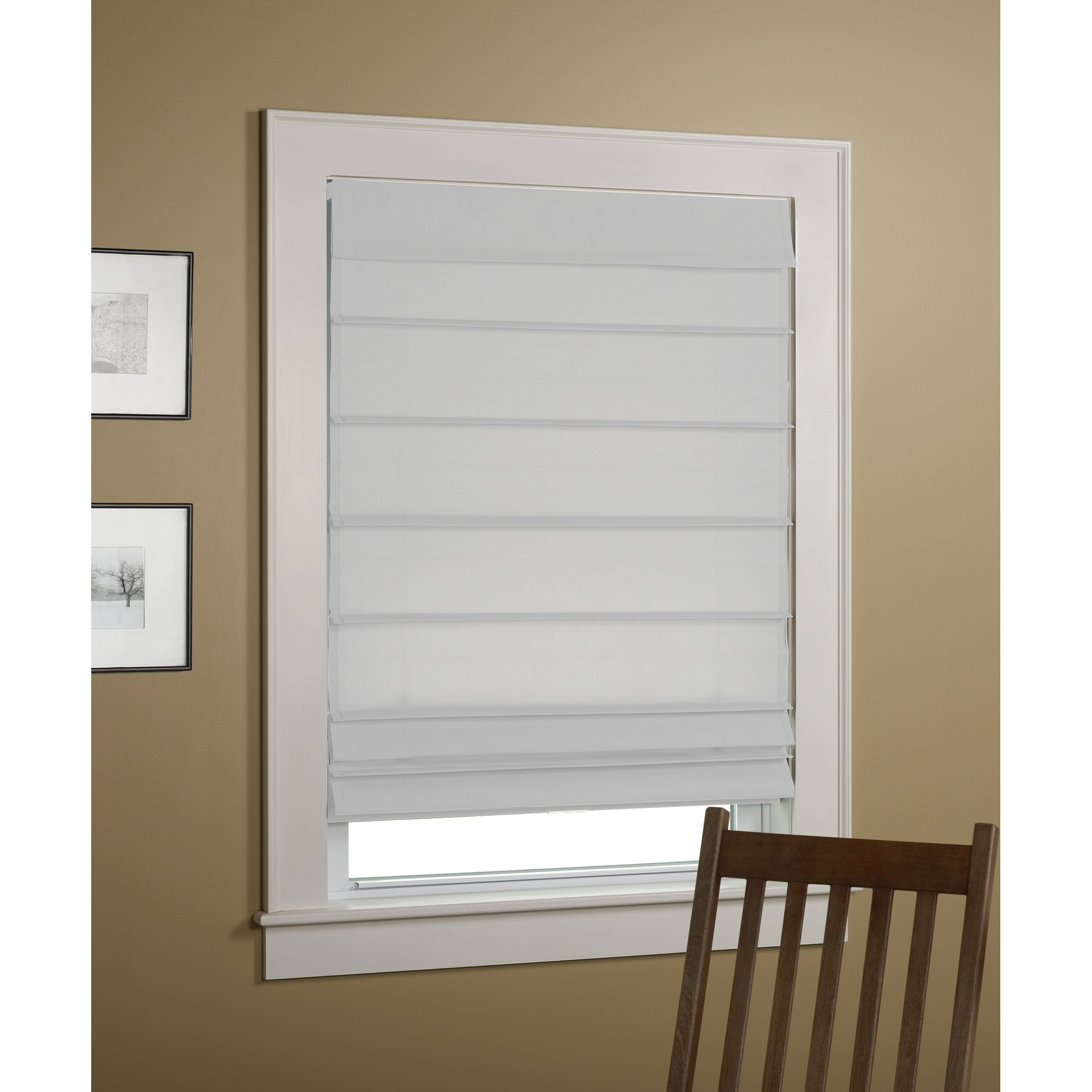 Alcott Hill Colt Thermal Backed Roman Shade Reviews Wayfair With Thermal Lined Roman Shades (Image 1 of 15)