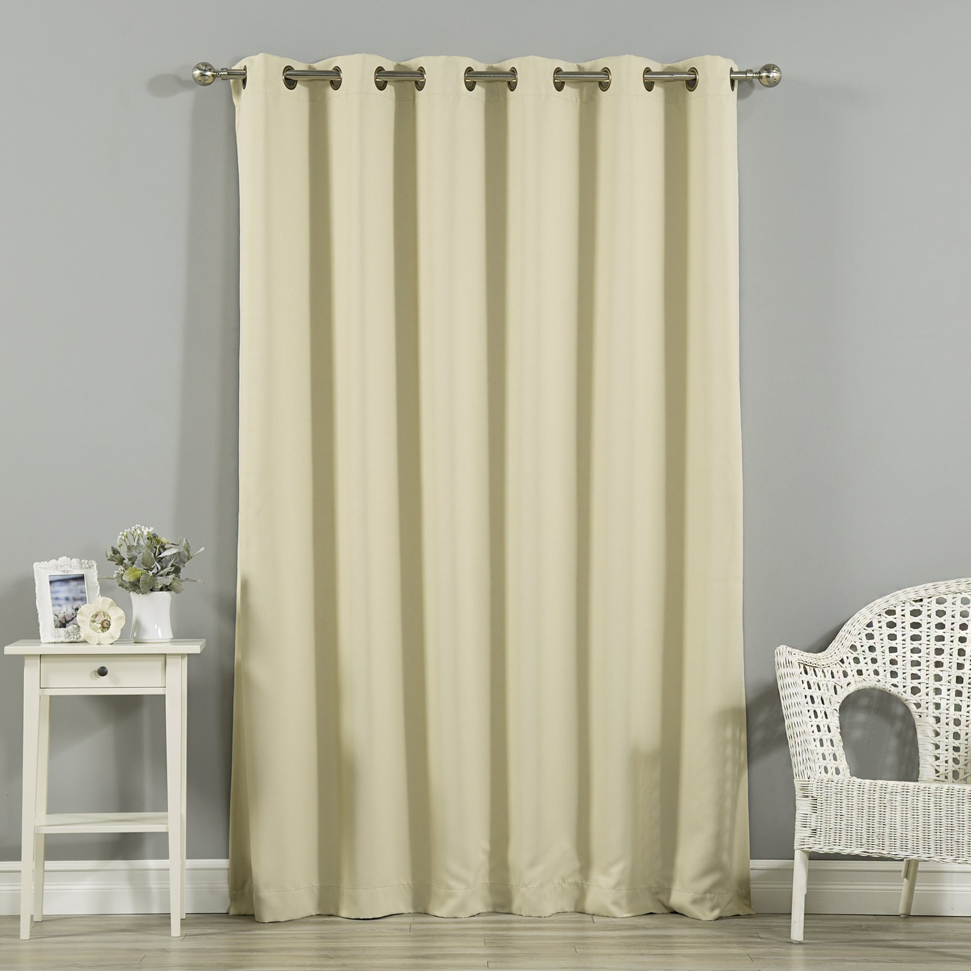 Alcott Hill Scarsdale Extra Solid Blackout Thermal Grommet Single In Natural Curtain Panels (View 7 of 15)