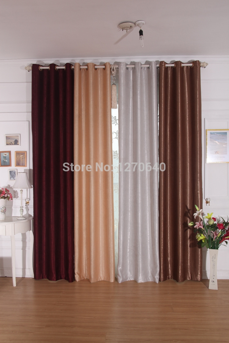 Aliexpress Buy 3color Elegance Blackout Curtains For Bedroom In Blackout Curtains Bay Window (Image 2 of 15)