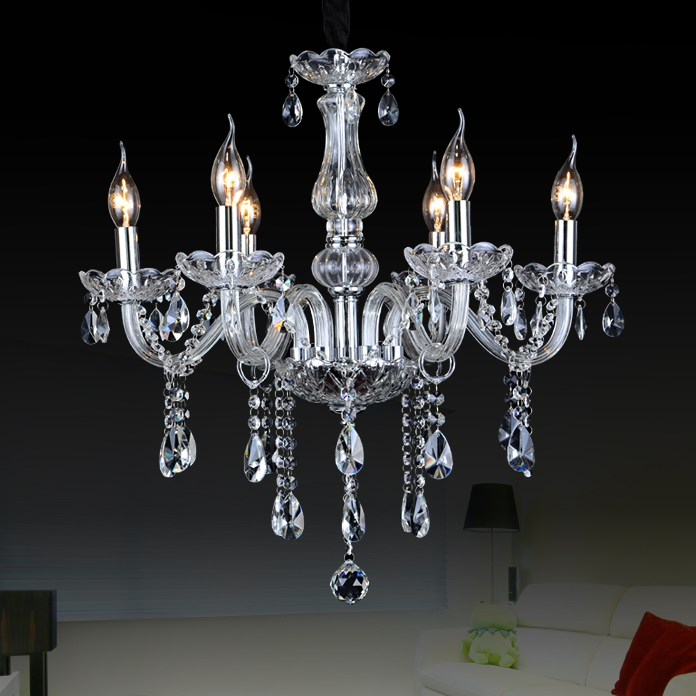 Aliexpress Buy Crystal Large Chandeliers Contemporary With Regard To Glass Chandelier (Image 3 of 15)