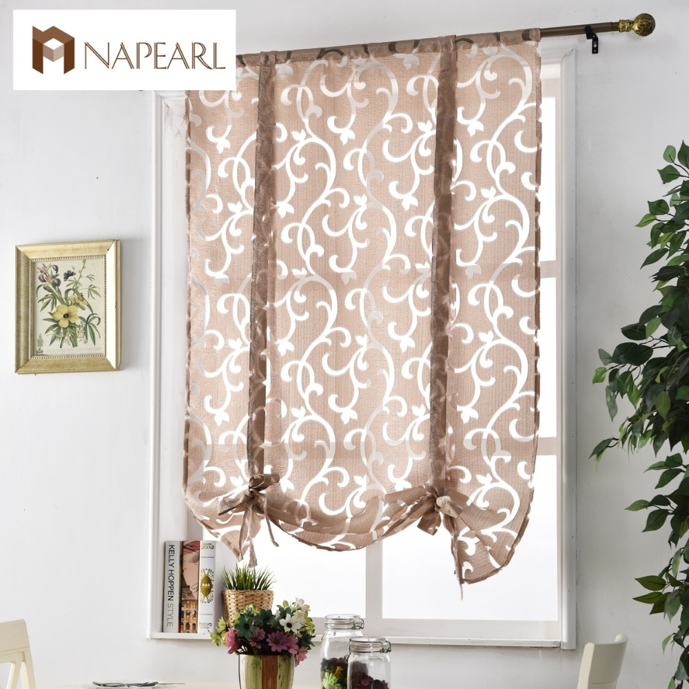 Aliexpress Buy Kitchen Short Curtains Window Treatments Regarding Luxury Blinds And Curtains (Image 2 of 15)