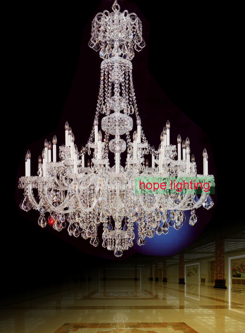 Aliexpress Buy Large Chandelier Crystals Empire Crystal Throughout Large Crystal Chandeliers (Image 1 of 15)
