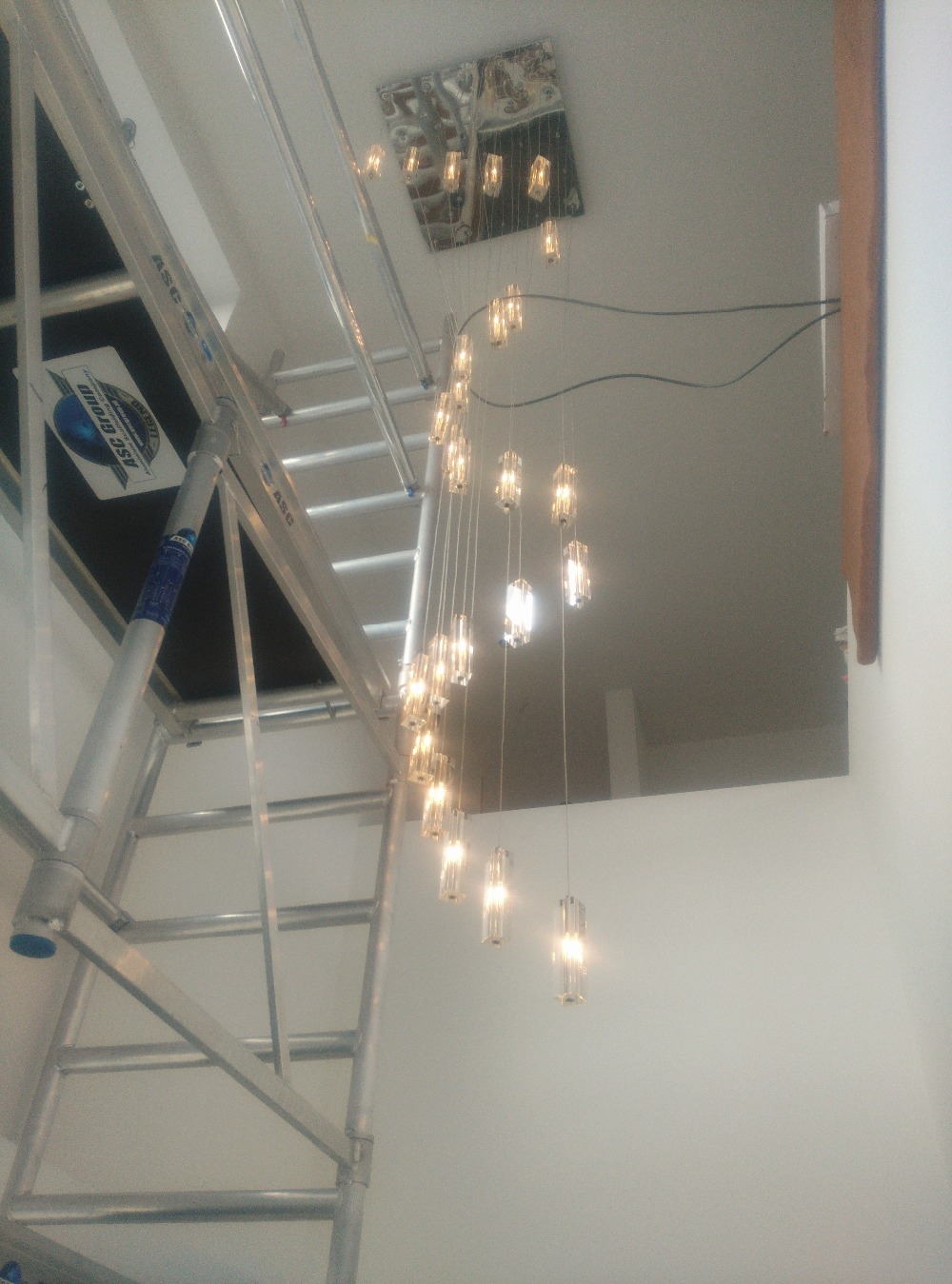 Aliexpress Buy Led Crystal Chandelier Lighting Stairway Long Intended For Stairway Chandeliers (Image 3 of 15)
