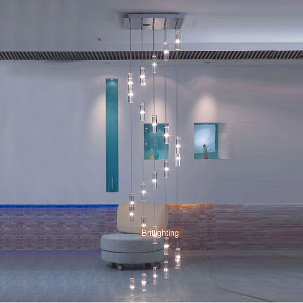 Aliexpress Buy Led Crystal Chandelier Lighting Stairway Long Throughout Stairway Chandelier (View 2 of 15)