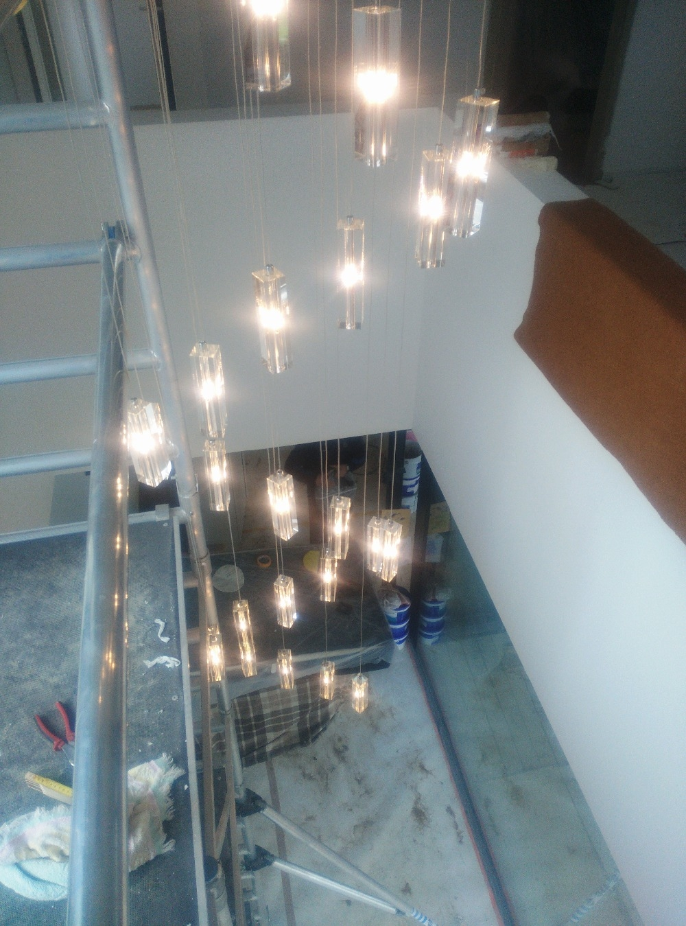 Aliexpress Buy Led Crystal Chandelier Lighting Stairway Long Throughout Stairway Chandeliers (Image 5 of 15)