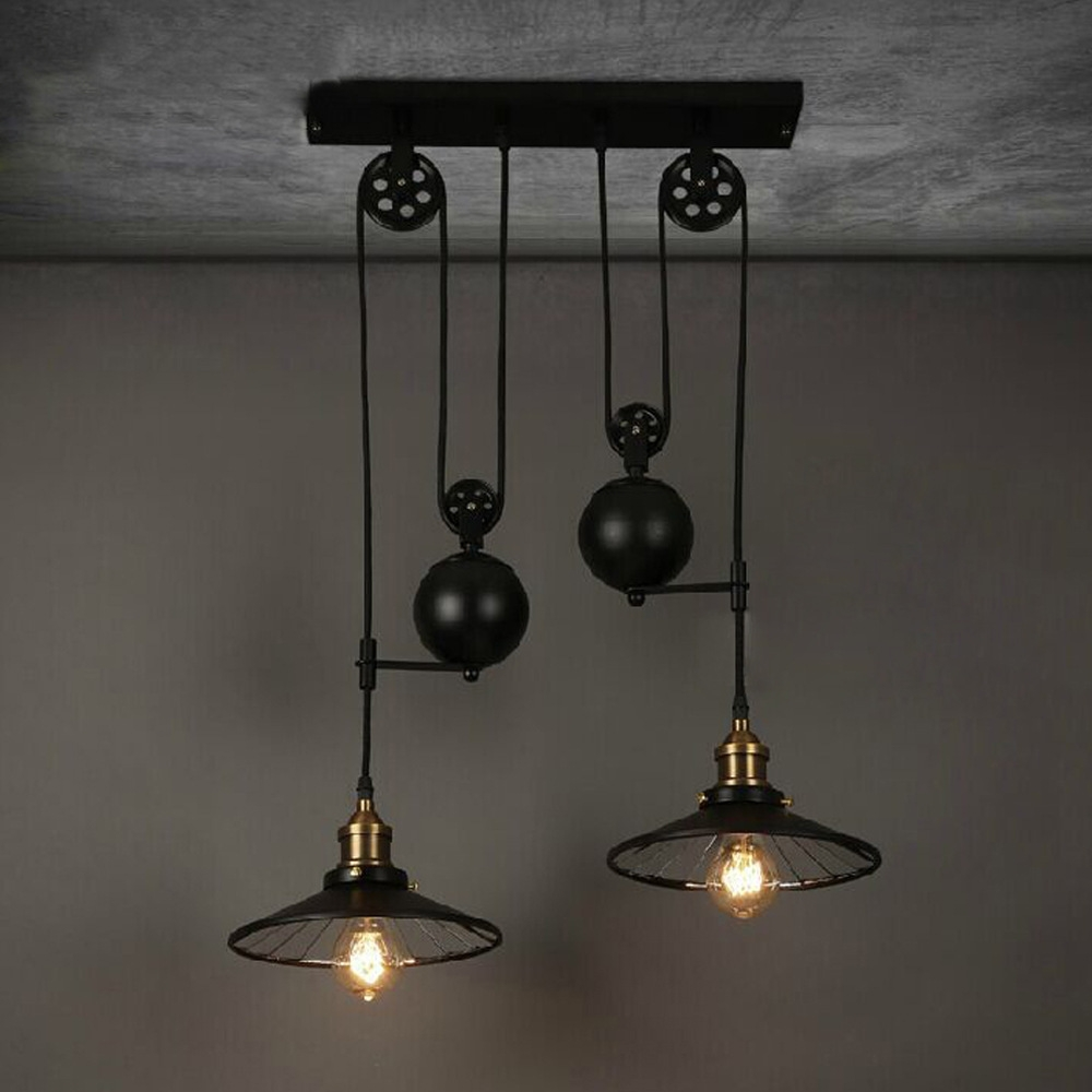 Aliexpress Buy Loft Vintage Retro Wrought Iron Black For Modern Wrought Iron Chandeliers (Image 2 of 15)