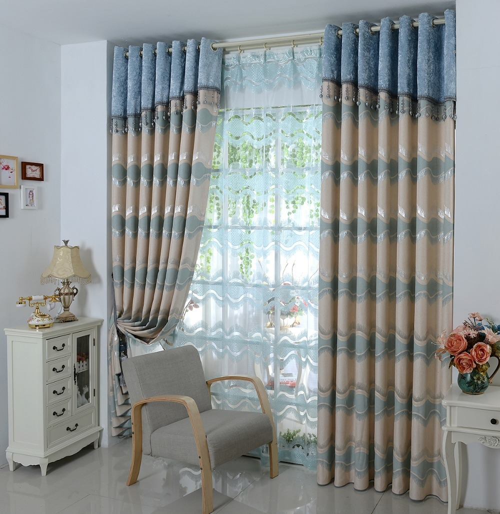 Aliexpress Buy Luxury European Curtain Head Curtain With Curtain Head (Image 5 of 15)