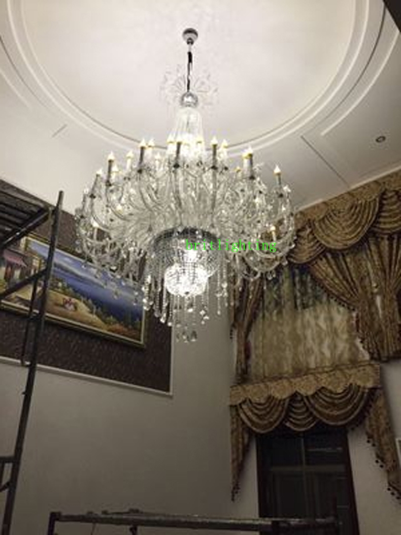 Aliexpress Buy Modern Large Chandeliers Crystal Pendants For Pertaining To Large Chandeliers Modern (View 12 of 15)