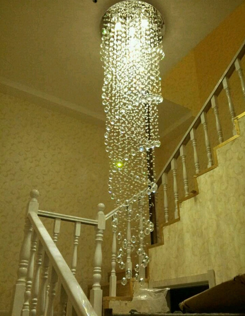 Aliexpress Buy Modern Simple Led Chandelier Rotating Regarding Long Chandelier Light (Image 6 of 15)
