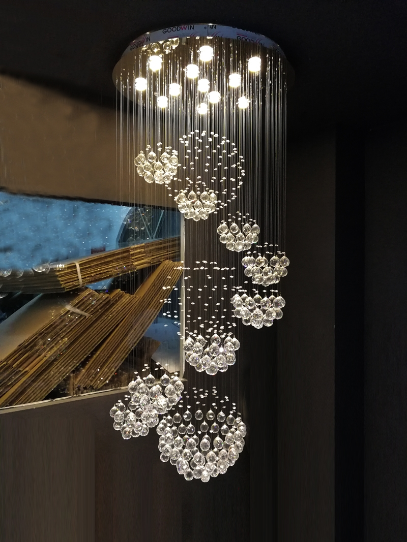 Aliexpress Buy New Modern Item Dia80h300cm Large Modern Within Hotel Chandelier (Image 4 of 15)