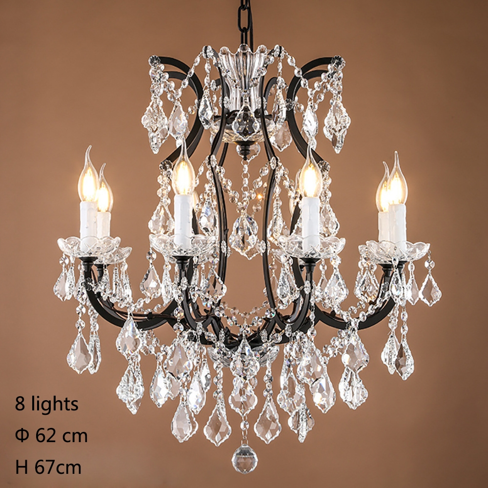 Aliexpress Buy Retro Vintage Crystal Drops Chandelierslarge Inside French Chandeliers (Image 1 of 15)