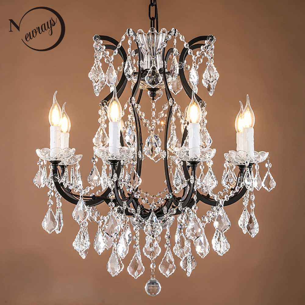 Aliexpress Buy Retro Vintage Crystal Drops Chandelierslarge With Regard To Vintage French Chandeliers (Image 1 of 15)