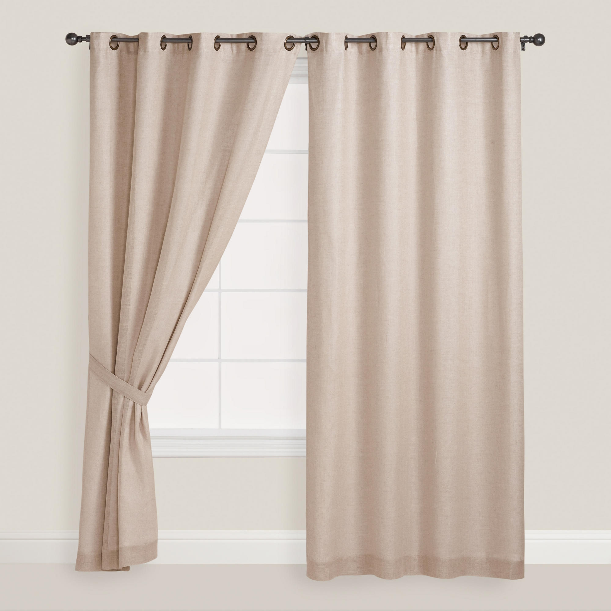 Featured Image of Natural Linen Drapes