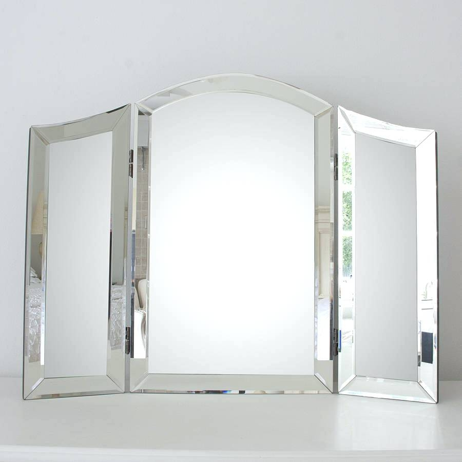 All Glass Dressing Table Mirrorplain Venetian Triple Mirror Cheap With Venetian Style Mirrors Cheap (Image 2 of 15)
