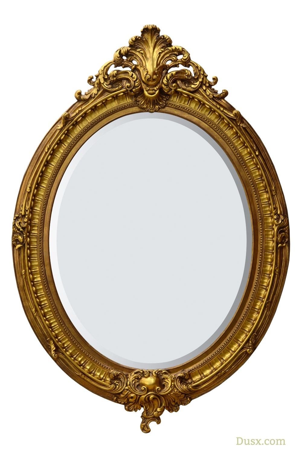 Almandine French Rococo Gold Oval Bevelled Mirror For Sale At Www Intended For Rococo Gold Mirror (Image 4 of 15)