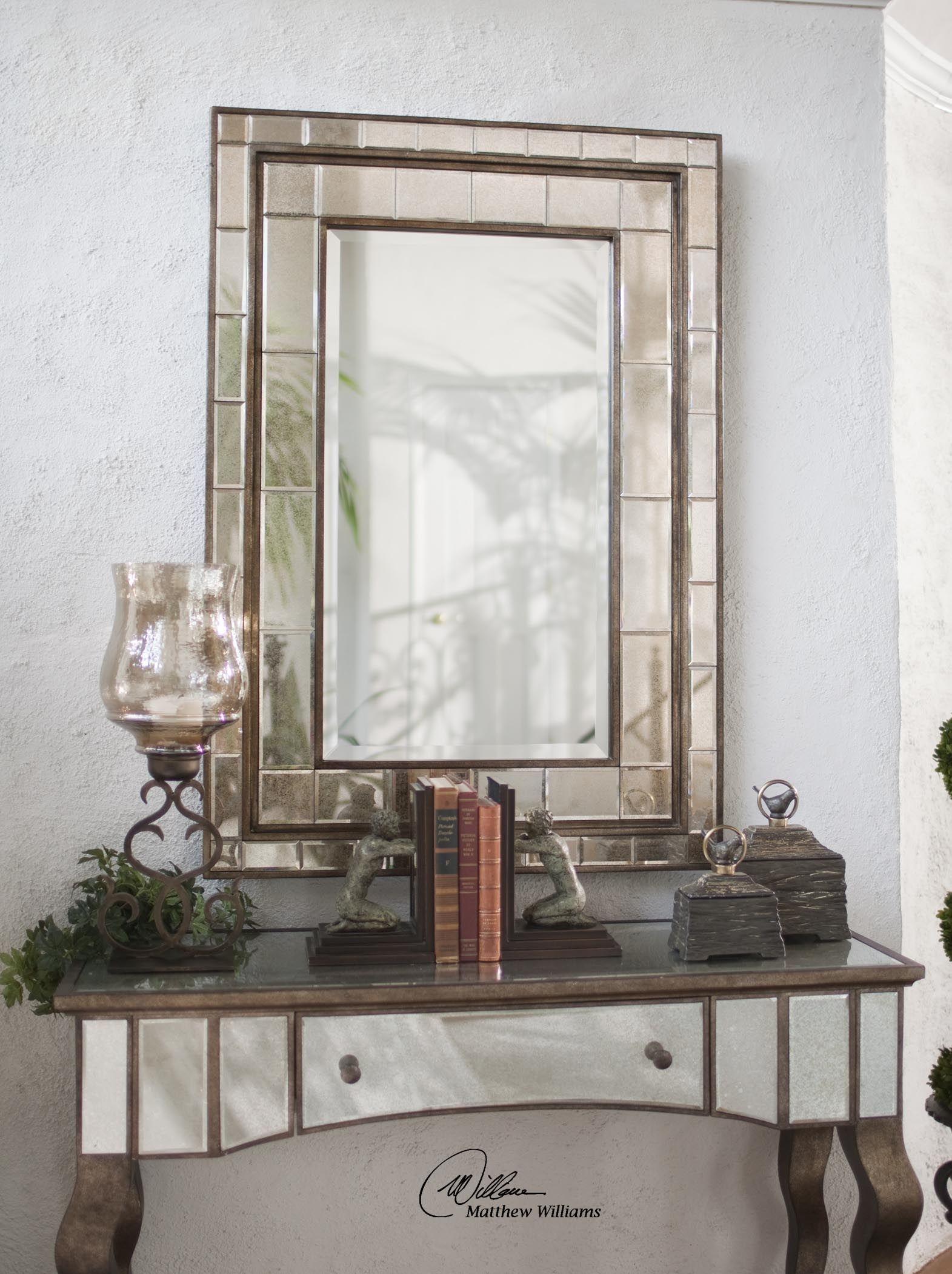 Almont Bronze Mosaic Mirror Hudson Home Decor With Bronze Mosaic Mirror (View 14 of 15)