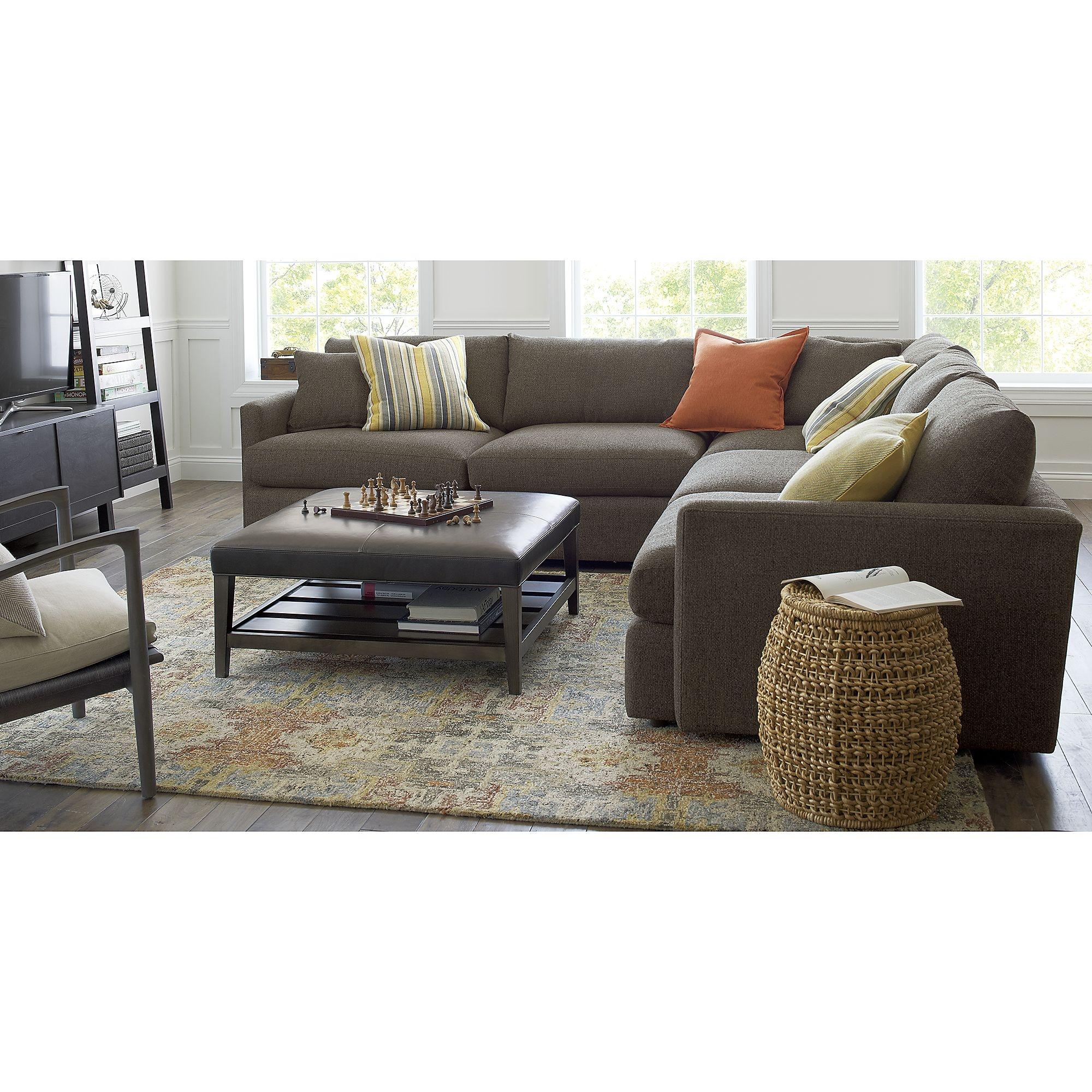 Alvarez Garden Wool Blend 8×10 Rug Crate And Barrel Gardens Regarding Crate And Barrel Sectional Sofas (View 13 of 15)