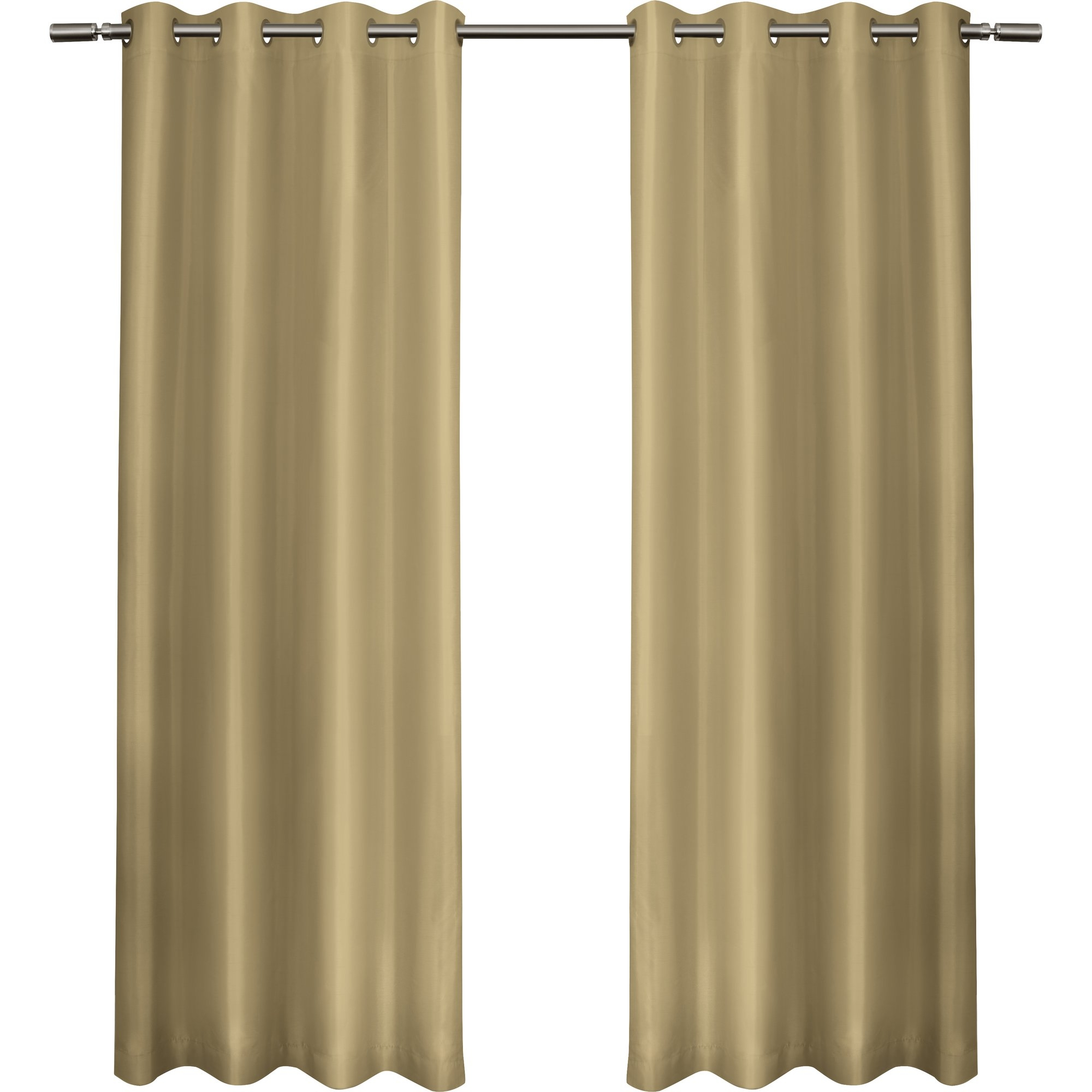Amalgamated Textiles Solid Semi Sheer Thermal Curtain Panels Pertaining To Extra Wide Thermal Curtains (Image 2 of 15)