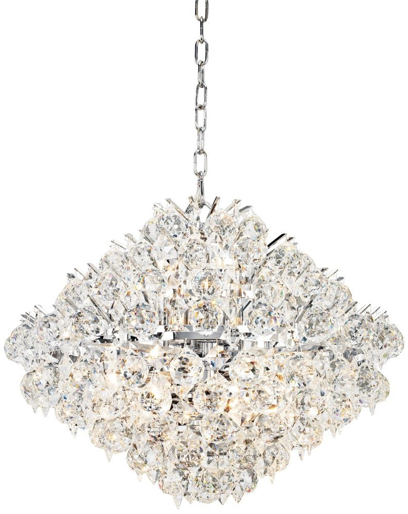 Amazing Of Unique Crystal Chandeliers Contemporary Crystal Throughout Modern Silver Chandelier (Image 3 of 15)