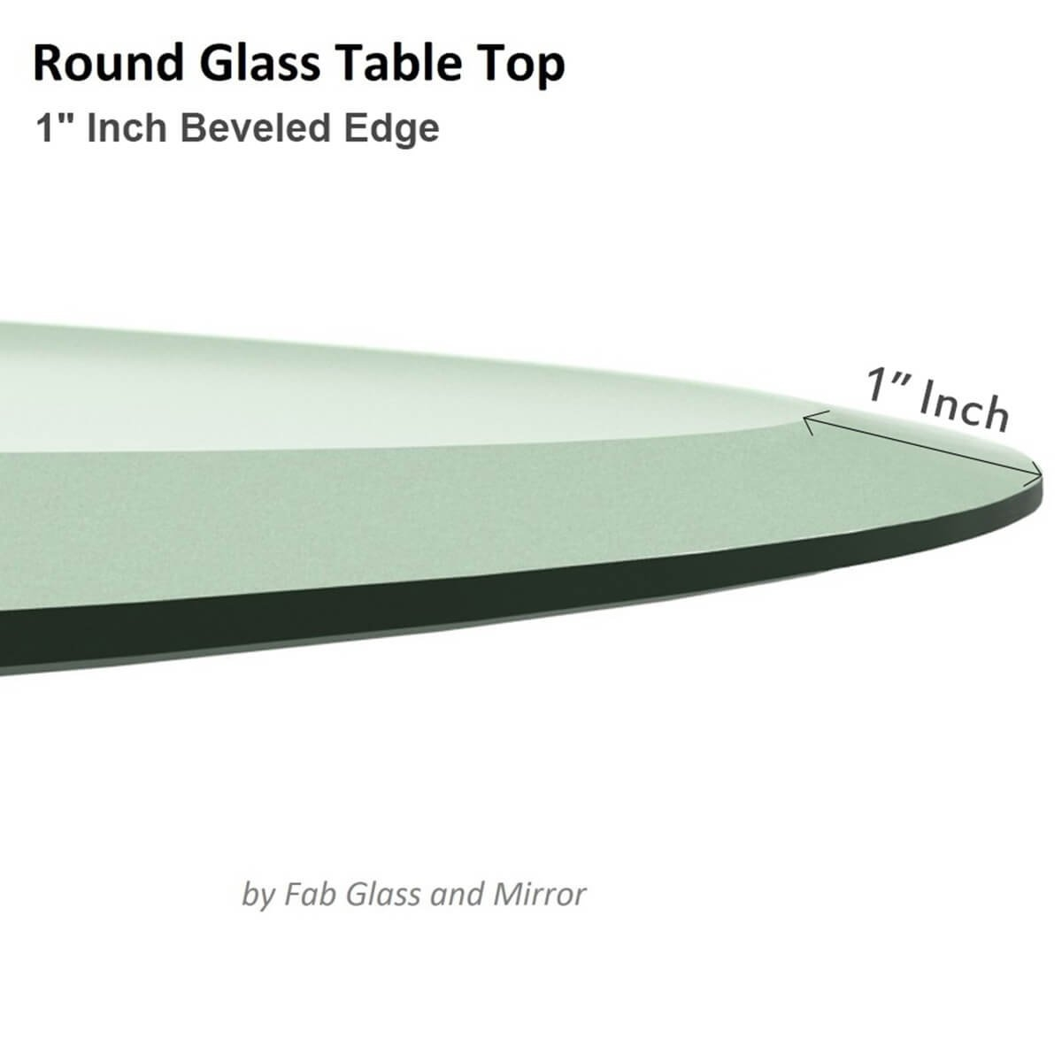 Amazon 15 Inch Round Glass Table Top 38 Thick Tempered Within Chamfered Edge Mirror (Image 2 of 15)