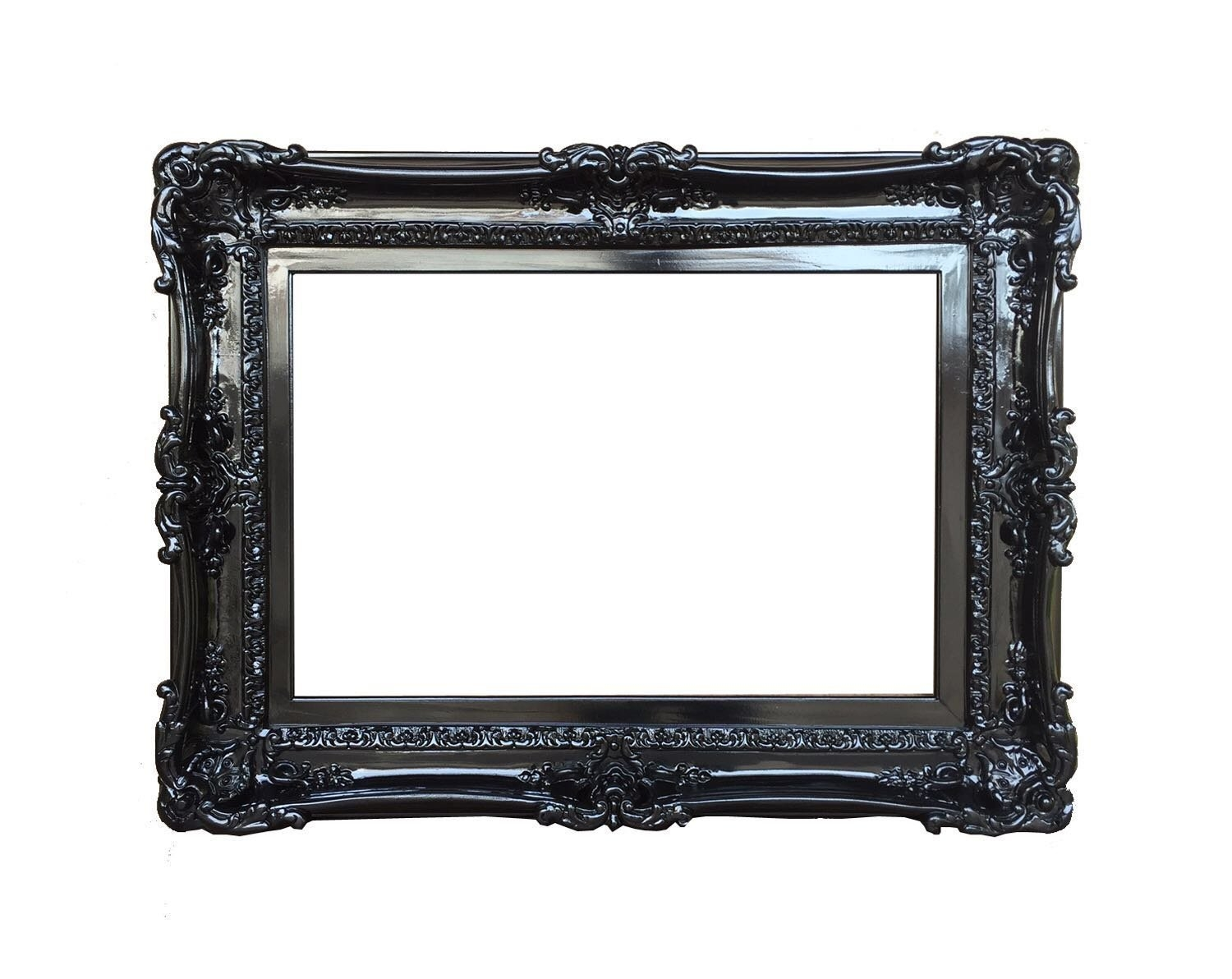 Simplicity Home Decor Mirror Black Baroque Mirror 10 Of 15 Photos