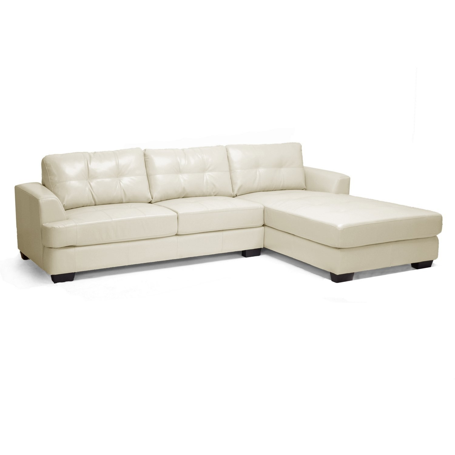 Amazon Baxton Studio Dobson Leather Modern Sectional Sofa In Dobson Sectional Sofa (Image 2 of 15)