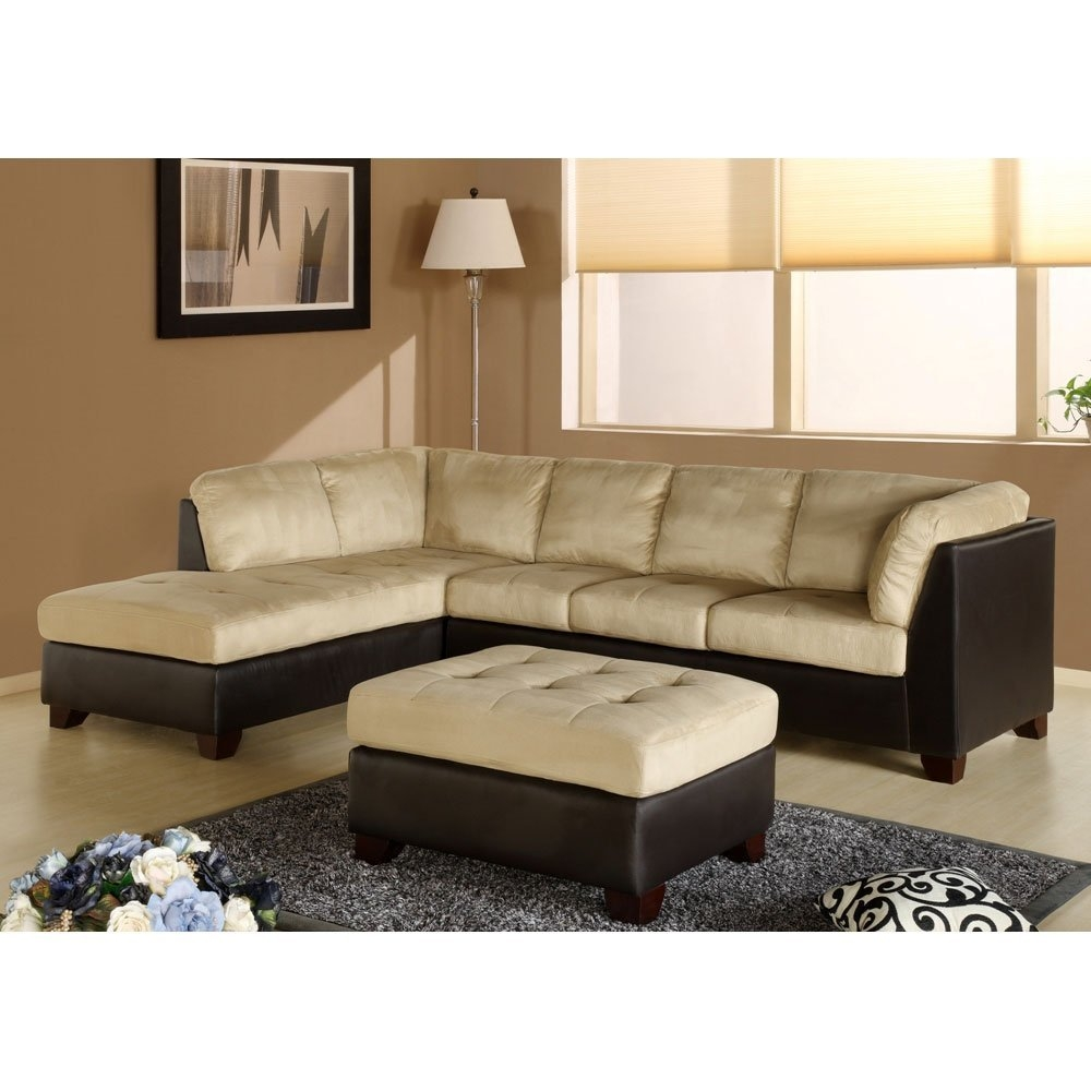 Amazon Charlotte Sectional Sofa And Ottoman In Beige With Abbyson Living Charlotte Dark Brown Sectional Sofa And Ottoman (Image 2 of 15)