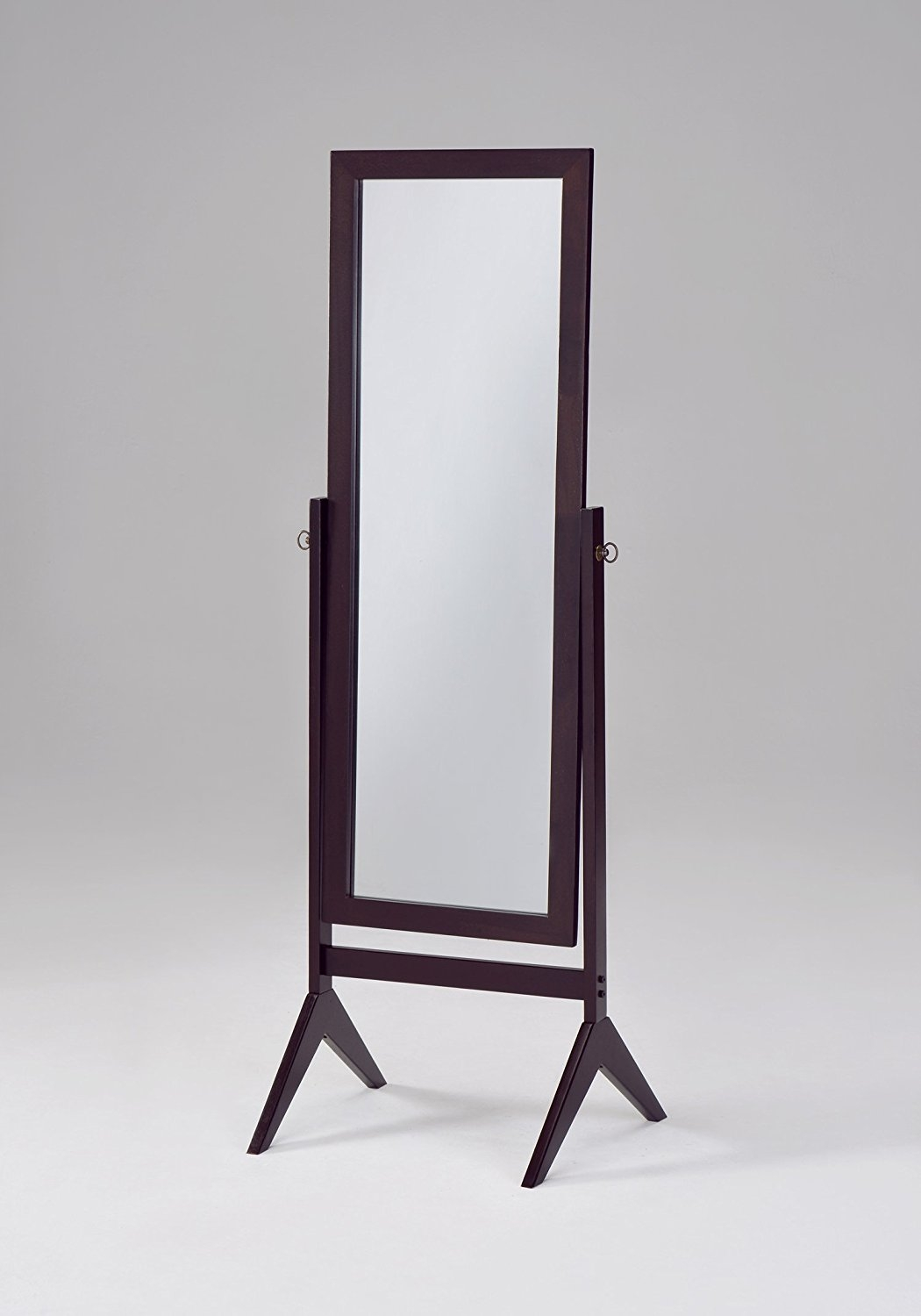 Amazon Ehomeproducts Espresso Finish Wooden Cheval Bedroom For Full Length Stand Alone Mirrors (Image 3 of 15)
