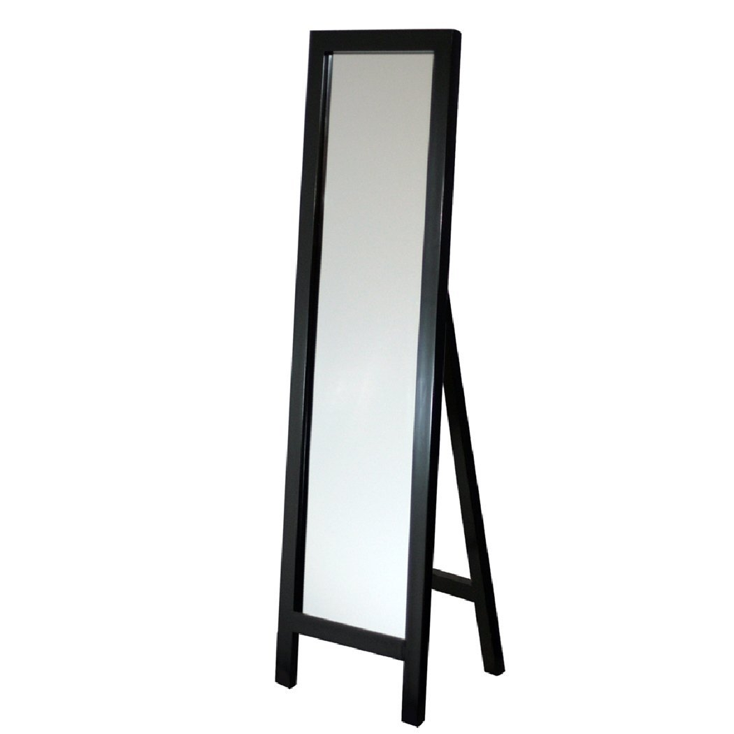 Amazon Head West Easel Espresso Floor Mirror 18 64 Inch For Black Free Standing Mirror (Image 3 of 15)