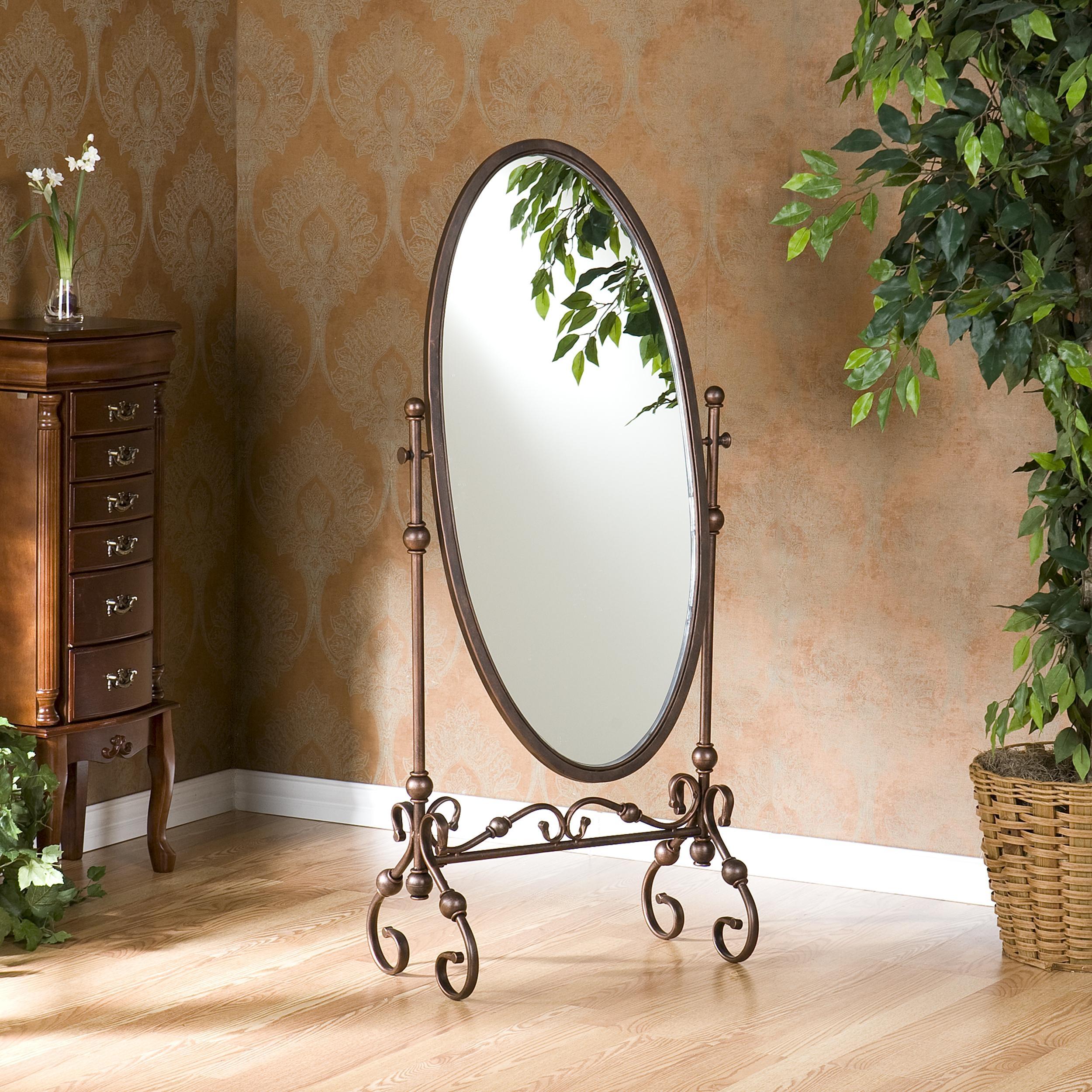 Amazon Lourdes Cheval Mirror Home Kitchen Regarding Wrought Iron Full Length Mirror (Image 4 of 15)