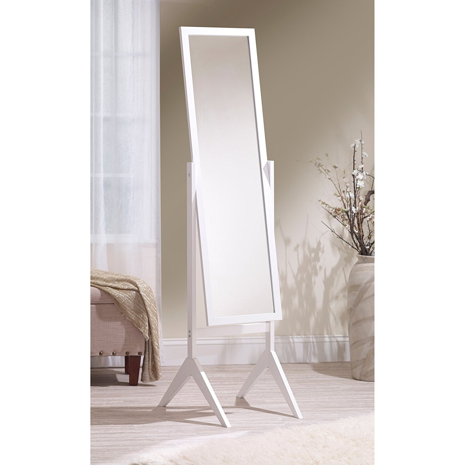 Amazon Mirrotek Adjustable Free Standing Tilt Full Length With Regard To Cheval Freestanding Mirror (Image 3 of 15)