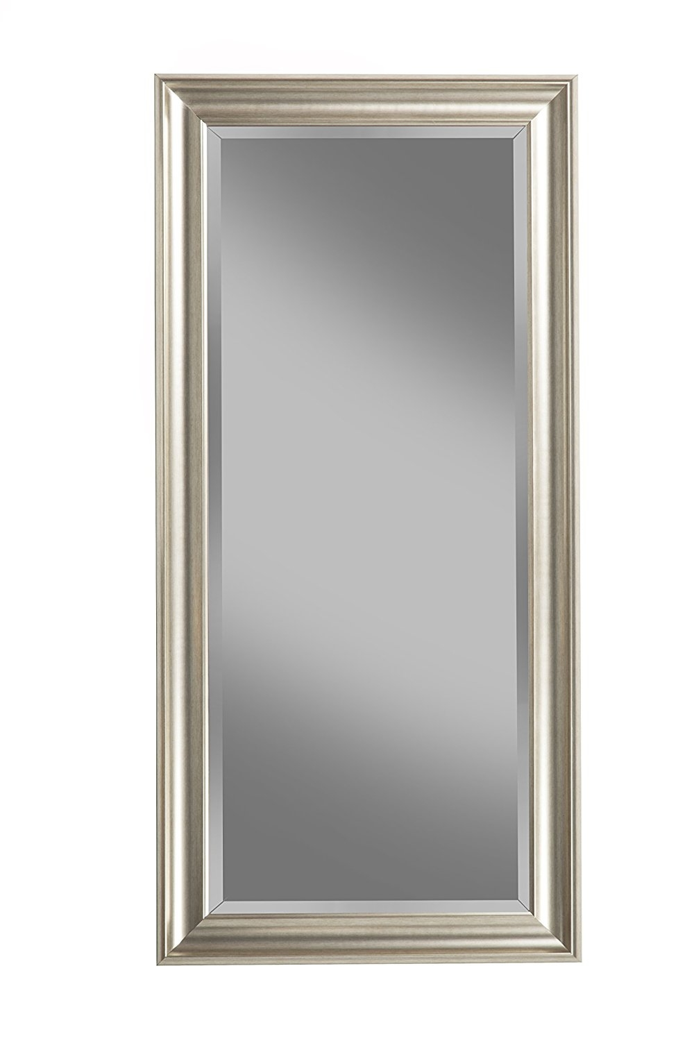 Amazon Sandberg Furniture Champagne Silver Full Length Leaner Pertaining To Full Length Silver Mirror (Image 1 of 15)