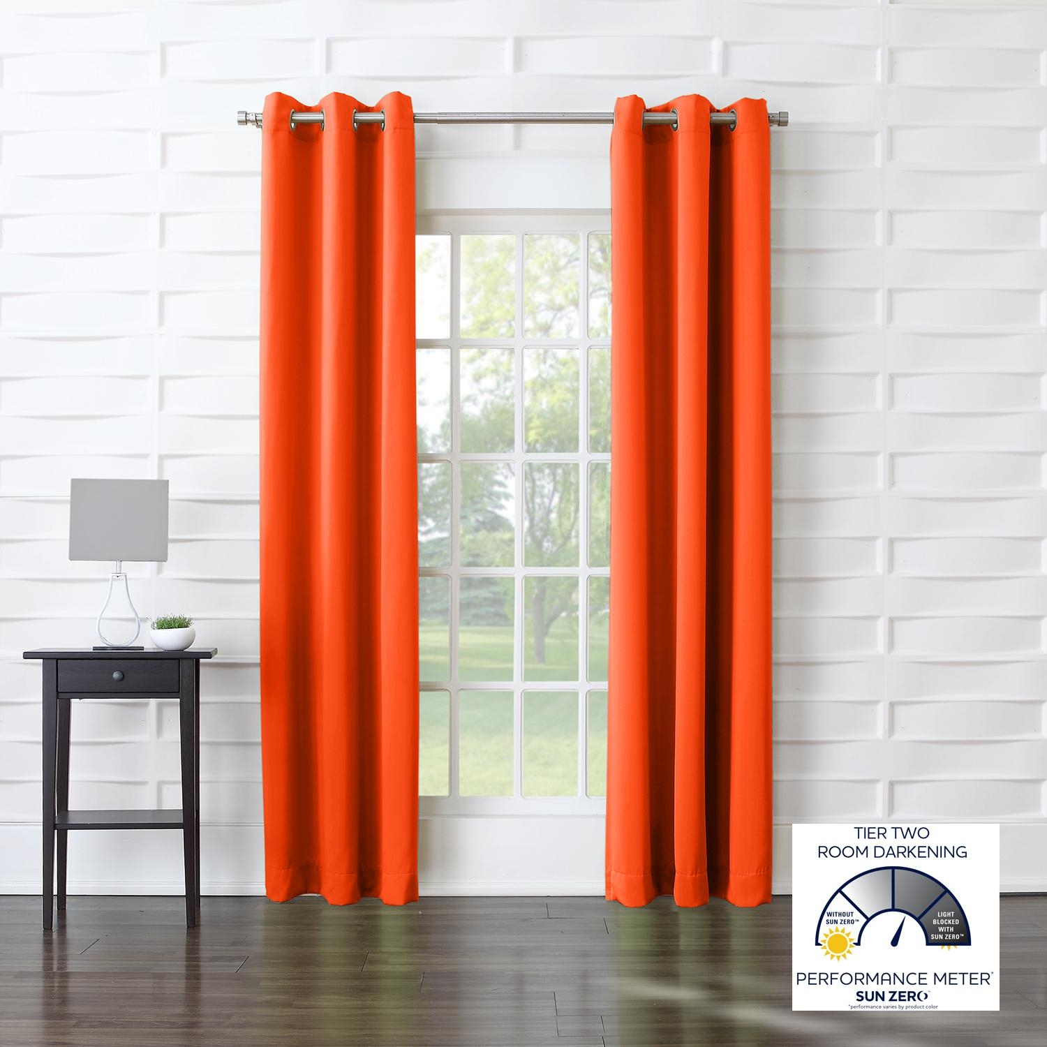 Amazon Sun Zero Barrow Energy Efficient Patio Door Curtain With Regard To Noise And Light Blocking Curtains (Image 3 of 15)